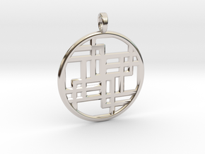 SIXTH DIMENSION CUBED in Rhodium Plated
