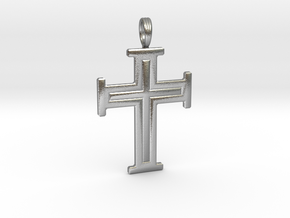 DIVINE CROSS in Raw Silver