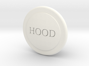 Fj Hood Release Knob in White Strong & Flexible Polished