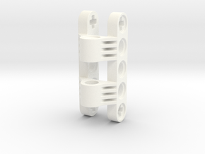 Gearcase for Helical gears 8z in White Strong & Flexible Polished