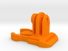 Short Direct Mount GoPro Quick Release Clip in Orange Strong & Flexible Polished