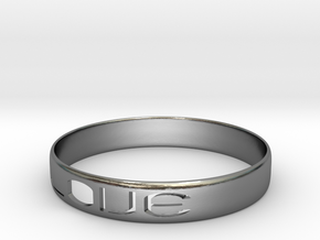 RING  LOVE    U.S  Size 11 in Polished Silver