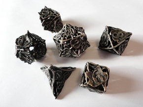 Botanical Dice Set in Stainless Steel