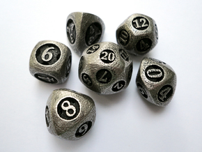 Overstuffed Dice Set in Stainless Steel