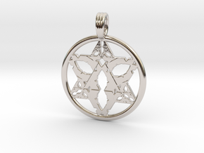SATURNIAN LIGHT in Rhodium Plated