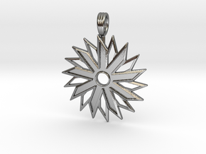 VORTEX STAR in Polished Silver