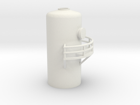 'N Scale' - 10' Distillation Tower - Top in White Strong & Flexible