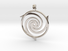 TRINITY SPIRAL in Rhodium Plated