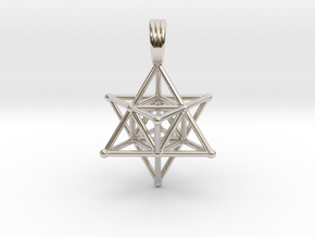 MERKABAH (pendant) in Rhodium Plated