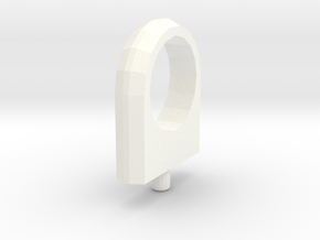 3d Shuttle Fuel Line Fitting Tall in White Strong & Flexible Polished