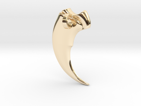 Bear claw pendant 20mm in 14K Gold