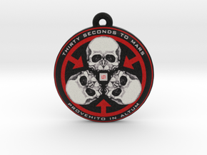 Thirty Seconds To Mars Logo Pendant / Ornament in Full Color Sandstone