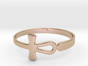 Anhk Bracelet 65 in 14k Rose Gold Plated