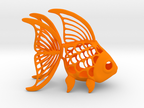 Goldfish Figurine in Orange Strong & Flexible Polished