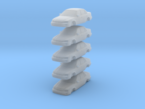 ho scale 1998-2000 toyota corolla 5 pack in Frosted Ultra Detail