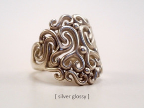 Arabesque Ring in Polished Silver