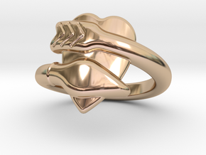 Cupido Ring 20 - Italian Size 20 in 14k Rose Gold Plated