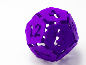 Big die 12 / d12 30mm / dice set in Purple Strong & Flexible Polished