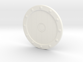 Viking Shield Coaster in White Strong & Flexible Polished