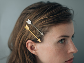 Arrow Bobby Pin in Polished Gold Steel