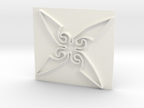 Throwing Star in White Strong & Flexible Polished