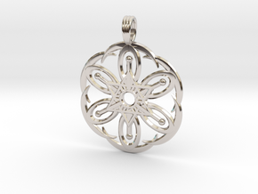 MOON BLOSSOM in Rhodium Plated