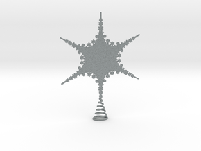 Sparkle Snow Star 2 - Tree Top Fractal - M in Polished Metallic Plastic
