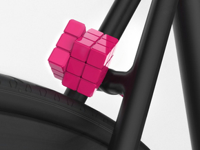 Rubik´s cube in Pink Strong & Flexible Polished