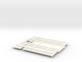 KN 18ft High Side Grain bed in White Strong & Flexible Polished