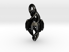 Ingress Resonator Pendant ( 1.1 inch) in Matte Black Steel
