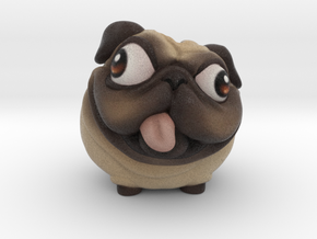 PuggyBanks 2inch Penny Holder in Full Color Sandstone