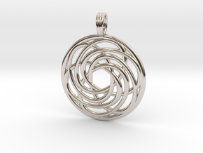 BREATH OF LIFE in Rhodium Plated