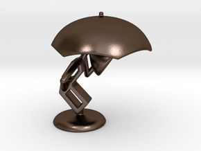 Lele with Umberlla - DeskToys in Polished Bronze Steel
