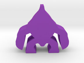 Game Piece, Alien Crusader Minion in Purple Strong & Flexible Polished