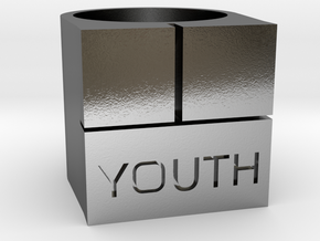 YOUTH Brick Ring - Sz. 5 in Polished Silver