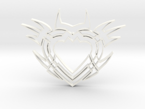 Heart2b in White Strong & Flexible Polished