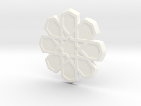 Moroccan Coaster in White Strong & Flexible Polished