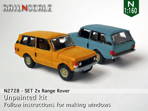 SET 2x Range Rover (N 1:160) in Frosted Ultra Detail