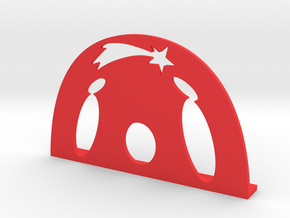 Christmas Crib in Red Strong & Flexible Polished