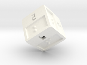 Braille D6 in White Strong & Flexible Polished
