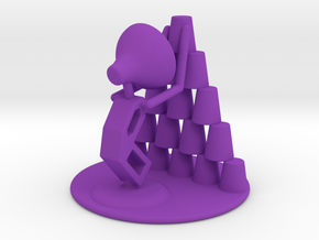 """Juju """"Playing with cups""""  - DeskToys in Purple Strong & Flexible Polished"""