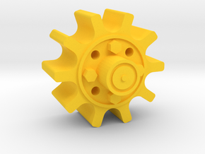 Drive Hub-6 in Yellow Strong & Flexible Polished