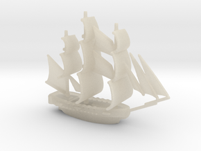 HMS Surprise ~1/1000 scale in White Acrylic