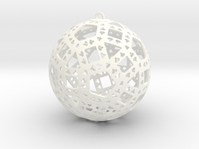 Christmas Ornament 1 in White Strong & Flexible Polished
