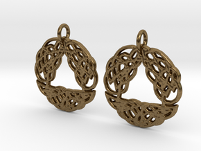 Celtic Arch earrings in Raw Bronze