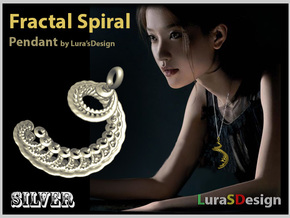 Fractal Spiral Earring in White Strong & Flexible Polished