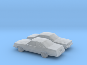 1/160 2X 1978-83 Ford Fairmont Futura in Frosted Ultra Detail
