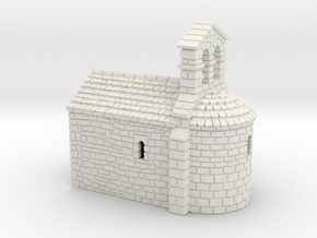 ZRelCh01 Small romanesque chapel in White Strong & Flexible