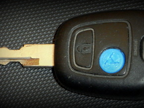 PEUGEOT 206 BUTTON in Black Strong & Flexible