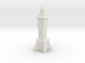 HO/OO Gauge - Victorian Clock Tower in White Strong & Flexible
